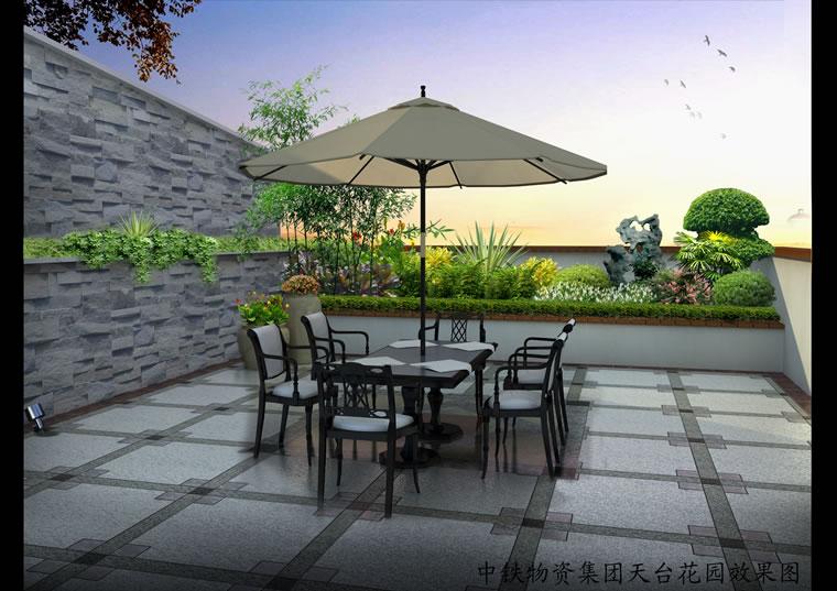 珠海中铁物资集团天台景观设计效果图